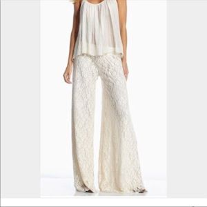 Anthropologie Hazel cream palazzo pants S